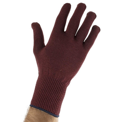 EDZ Silk Thermal Liner Inner Seamless Gloves Burgundy