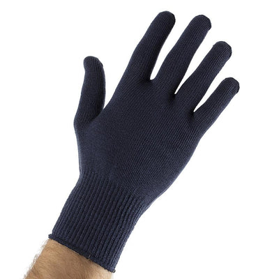 EDZ Silk Thermal Liner Inner Seamless Gloves Navy Blue