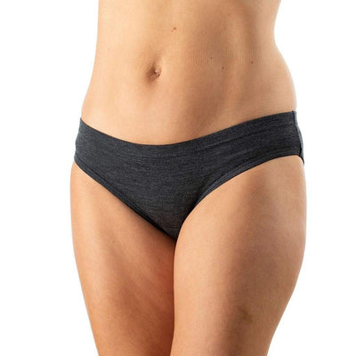 EDZ Merino Wool Womens Briefs Graphite Grey (3 pack)
