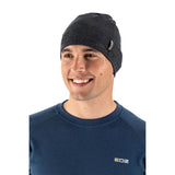 EDZ Merino Wool Thermal Beanie Hat Graphite Grey