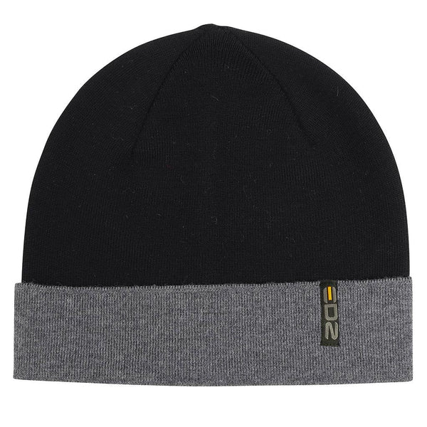 EDZ Two Tone Merino Wool Beanie Hat Black/Grey