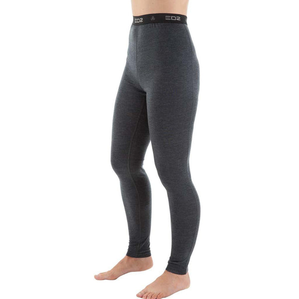 EDZ Merino Wool  Base Layer Leggings Womens Graphite
