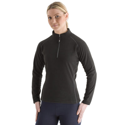 EDZ Womens Microfleece Midlayer 1/4 Zip Black