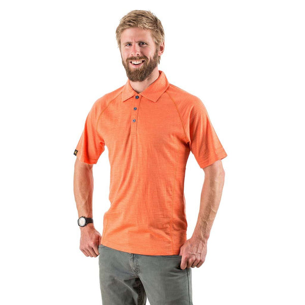 Orange polo shirt (miss-sized as M) size Small
