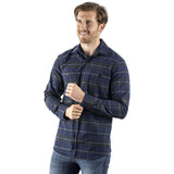 EDZ Merino Wool Plaid Flannel Shirt Blue