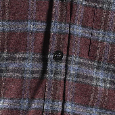 EDZ Merino Wool Plaid Flannel Shirt Red