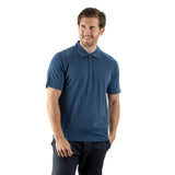 EDZ Merino Wool Polo Shirt Short Sleeve T Men's Denim Blue