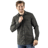 EDZ Merino Wool Plaid Flannel Shirt Green