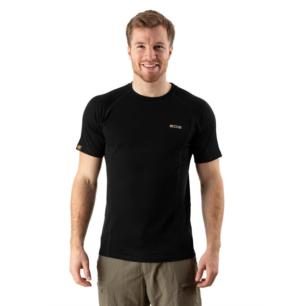 EDZ Merino Wool T-Shirt 200g Mens Black