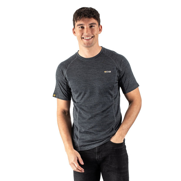 EDZ Merino Wool T-Shirt 200g Mens Graphite Grey
