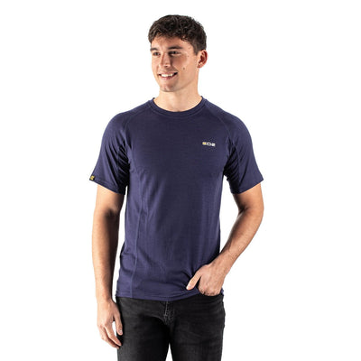 EDZ Merino Wool T-Shirt 200g Mens Indigo Blue