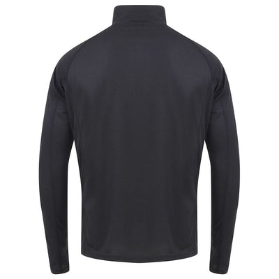 EDZ All Climate Wicking Base Layer Zip Neck Top Black