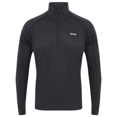 EDZ All Climate Wicking Motorcycle Base Layer Zip Neck Top Black