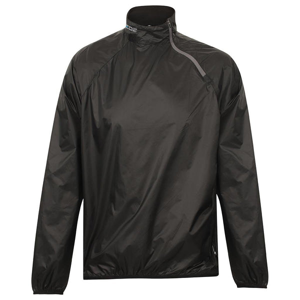 EDZ Innershell Windproof Jacket Black with Grey Zip