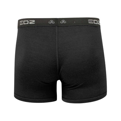 EDZ Merino Wool Boxer Shorts Trunk Underwear Mens Black