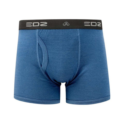 EDZ Merino Wool Boxer Shorts Trunk Underwear Mens Denim Blue (3 pack)