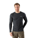 EDZ 200g Merino Base Layer Long Sleeve Crew Mens Graphite Grey