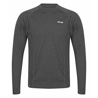 EDZ 200g Merino Base Layer Long Sleeve Crew Mens Grey