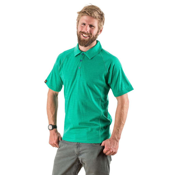 EDZ Merino Mens Polo Shirt 200gsm Emerald Green