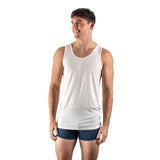 EDZ 190gsm Merino Wool Thermal Underwear Vest Mens White