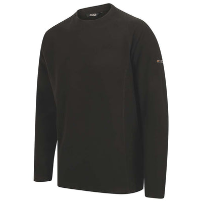 EDZ Microfleece Midlayer Crew Neck Black