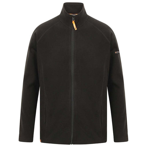 EDZ Microfleece Midlayer Jacket Full Zip Black