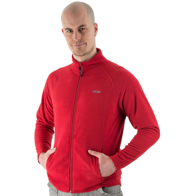 EDZ Microfleece Midlayer Jacket Full Zip Red