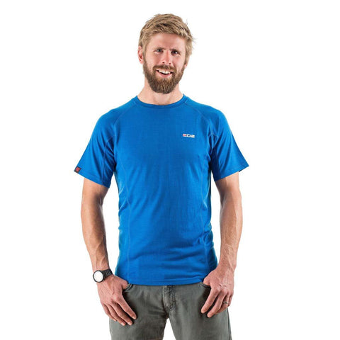 EDZ 200g Mens Merino Wool Base Layer T-Shirt Snorkel Blue