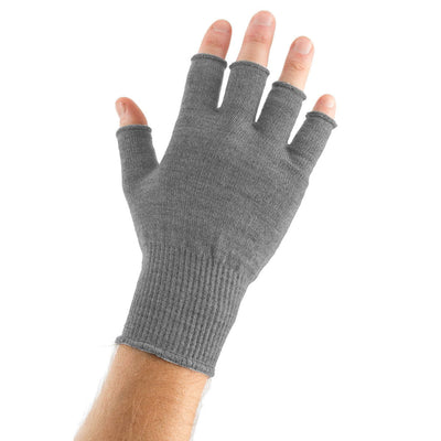 EDZ Merino Wool Fingerless Thermal Gloves Grey