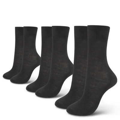 EDZ Merino Wool Thermal Liner Socks Black - 3 Pack