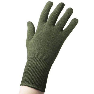 EDZ Merino Wool Thermal Liner Gloves Green