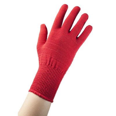 EDZ merino thermal liner gloves red main image