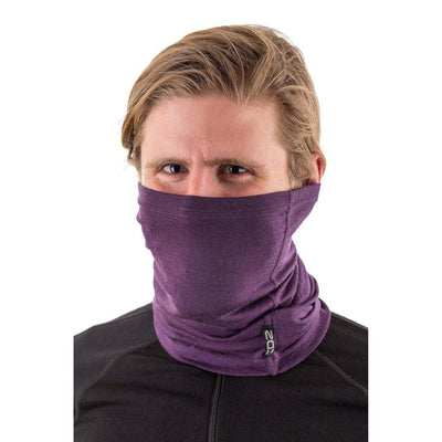 EDZ Merino 150gsm Multi-tube Neck Warmer Purple