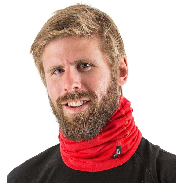 EDZ Merino 200gsm Multi-tube Neck Warmer Red