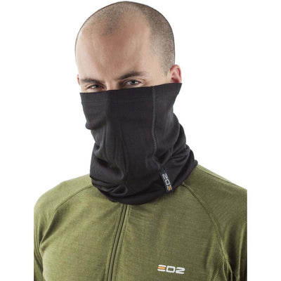 EDZ 200gsm Merino Multi tube Neck Warmer Black