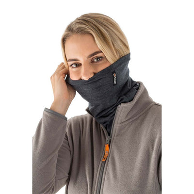 EDZ Merino 200g Multi-tube Neck Warmer Graphite Grey
