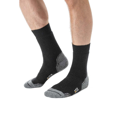 EDZ Merino Wool Walking Boot Socks Standard Length (Black)