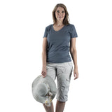 EDZ Merino Wool 135gsm T-shirt Womens Blue Grey