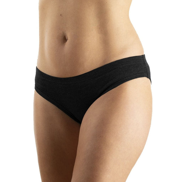 EDZ Merino Wool 200gsm Womens Briefs Black