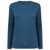 EDZ 200gsm Women Merino Wool Long Sleeve Base Layer Denim Blue
