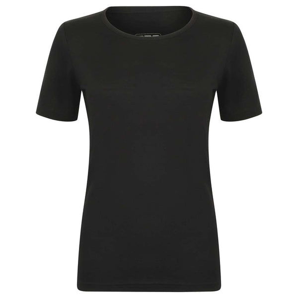 EDZ Womens Merino Wool T-shirt Scoop neck Black 200g