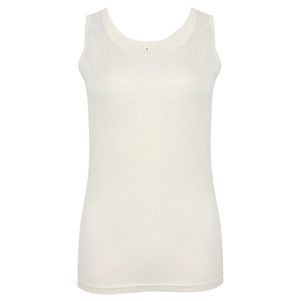 EDZ 190gsm Merino Wool Thermal Underwear Vest Womens White