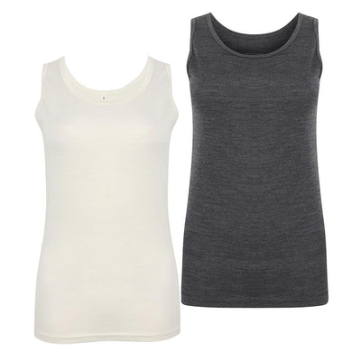 EDZ Merino Vest Womens Graphite/White (2 pack)