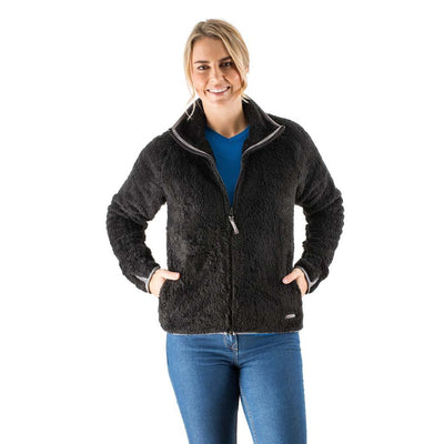 EDZ Yeti Fleece Jacket Black with Grey Trim