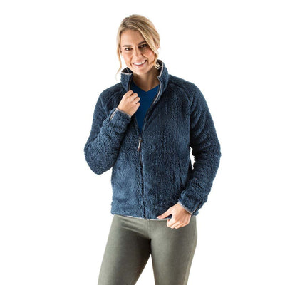 EDZ Yeti Jacket Fleece Jacket Denim blue with Grey Trim