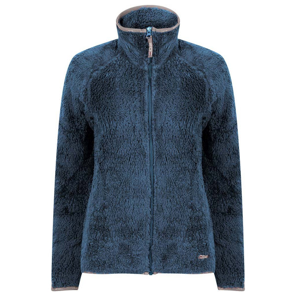 EDZ Yeti Fleece Jacket Denim blue with Grey Trim