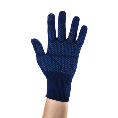EDZ Merino Wool Touchscreen Gloves Blue