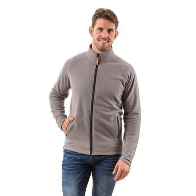 EDZ Microfleece Midlayer Jacket Full Zip Grey