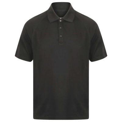 EDZ Merino Wool Polo Shirt Short Sleeve T Men's Black