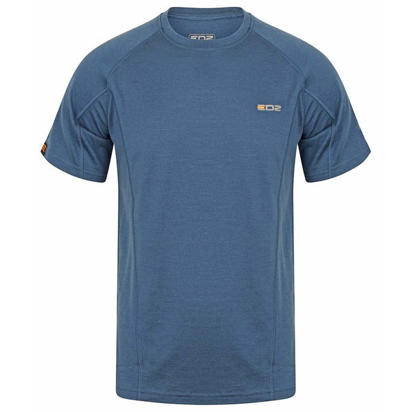 EDZ Merino Wool T-Shirt 200g Mens Denim Blue